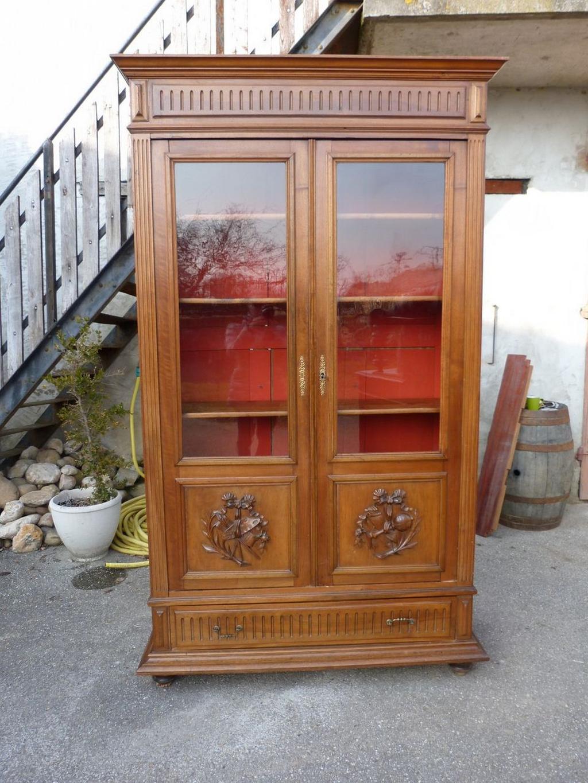 Книжный шкаф в стиле генрих2.